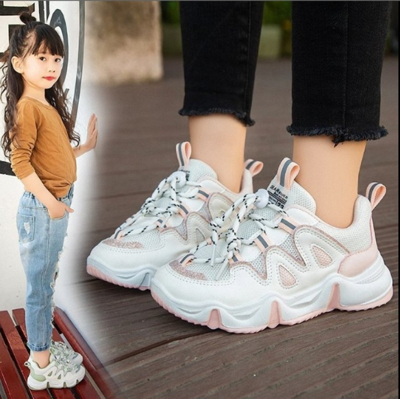 Giày thể thao bé gái hàn quốc đi học size 27 - 37 phong cách - TT86 giá rẻ