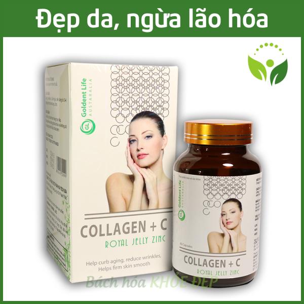Viên uống Collagen đẹp da, bổ sung Vitamin A E C giảm thâm nám tàn nhang, ngừa nếp nhăn, chống lão hóa - Hộp 60 viên