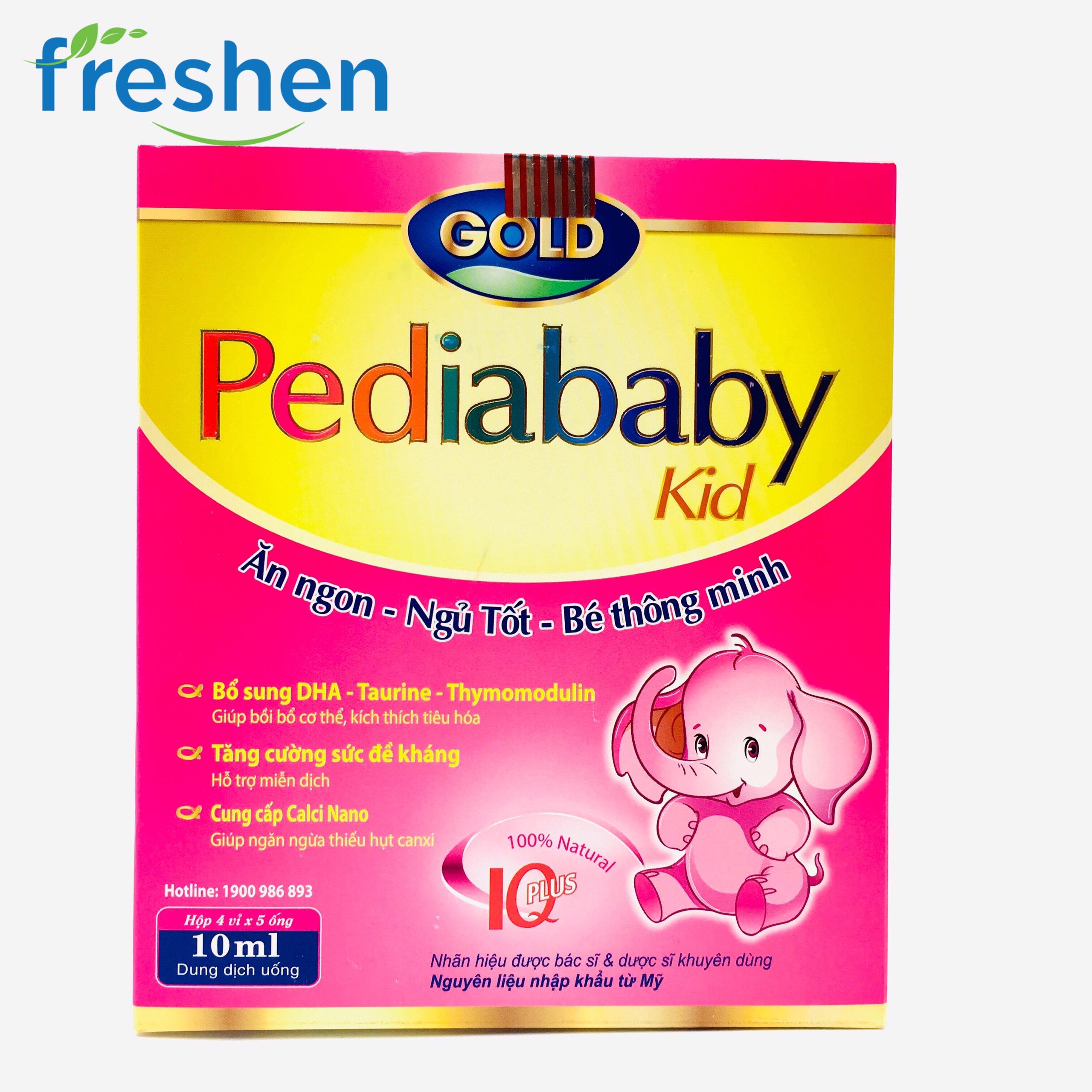 [HCM]Siro Pediababy ăn ngon ngủ tốt hộp 20 ống