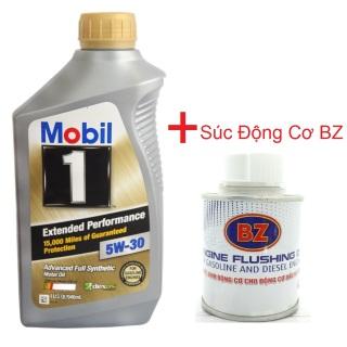 [SẠCH CHỈ ÍT PHÚT] NHỚT MOBIL 1 gold 5w30, nhớt mobil 1 5W30 kết hợp súc động cơ BZ cho máy luôn sạch sẽ- thumbnail