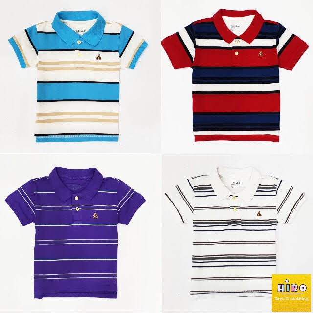 Áo thun có cổ bé trai, Áo bé trai xuất khẩu 10 - 45 kg, áo polo bé trai Baby Gap, áo thun cho bé trai, áo thun bé trai