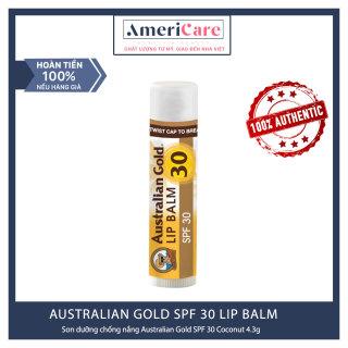 [Bill Mỹ] Son dưỡng môi AUSTRALIAN GOLD SPF 30 (4ml) - SPF 30 LIP BALM - COCONUT thumbnail