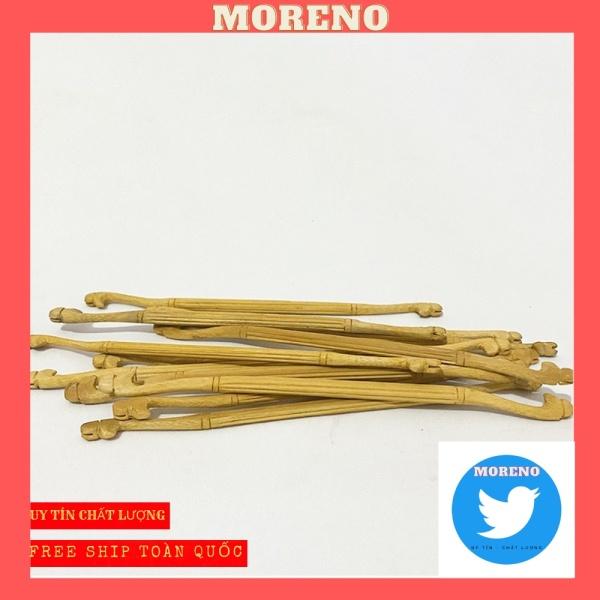 Cầu đậu MORENO cho chim khuyên chất liệu gỗ cao cấp thân tách chỉ đầu khắc đầu rồng nổi bật