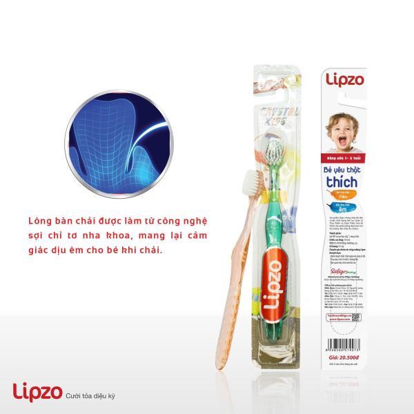 Bàn Chải Đánh Răng Chỉ Tơ Nha Khoa Siêu Mềm- Dành cho Trẻ từ 2-5 tuổi - LIPZO CRYSTAL KIDS