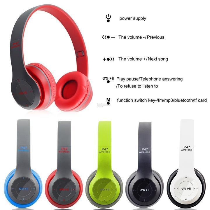 Tai nghe bluetooth, Tai nghe thể thao, Tai nghe chụp tai cao cấp có khe thẻ nhớ Bluetooth P47 Wireless Headphones, Pangpai P57 - Âm Thanh Đỉnh Cao