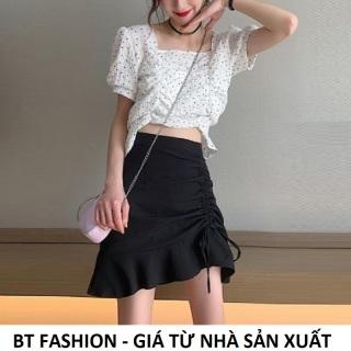 Chân Váy Chữ A Lưng Cao Thời Trang Hot BT Fashion - (VA1-Dây Rút) thumbnail
