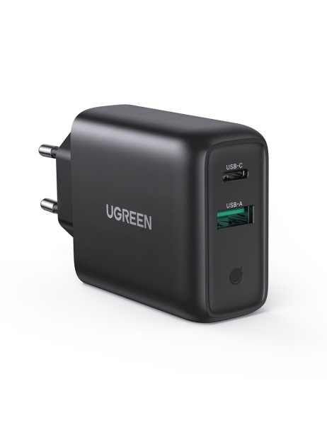 UGREEN 36W USB PD Charger USB Dual Wall Charger Quick Charge 3.0 4.0 QC 3.0 Charger for iPhone 12 Wall USB Type C Charger for Xiaomi Samsung handphones