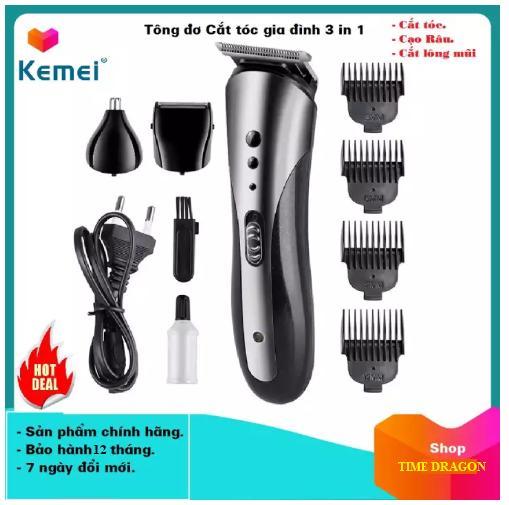 [Đổi mới trong 7 ngày - bảo hành 12 tháng] Tông đơ cắt tóc đa năng Kemei 3 trong 1 (cắt tóc - cạo râu - tỉa lông mũi) - tông đơ cắt tóc người lớn - tông đơ cắt tóc cho trẻ nhỏ - Máy cạo râu đa năng - máy tỉa lông mũi