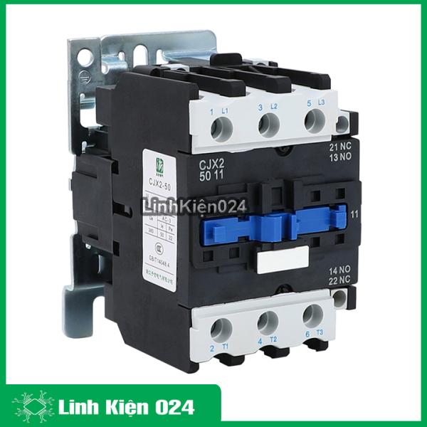 Khởi động từ contactor CJX2-5011 380v 50a thường đóng NC và mở NO vỏ chống cháy, công suất lớn