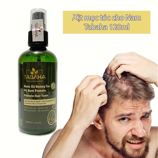 Xịt dưỡng tóc TINH DẦU BƯỞI TABAHA CHO NAM 120ml kích thích mọc tóc, ngăn rụng tóc và hói tóc