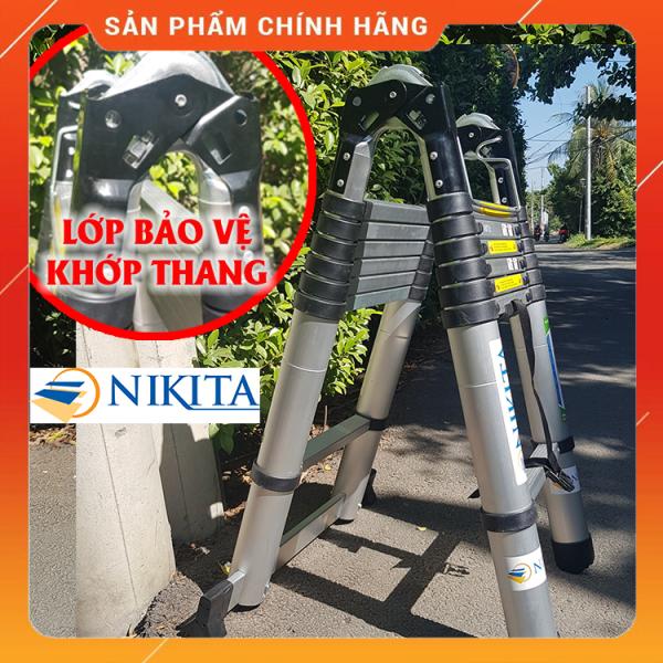 Thang Nhôm Rút Đa Năng Khóa Kép 3m8 NIKITA NKT-AT44 - Hàng Chính Hãng