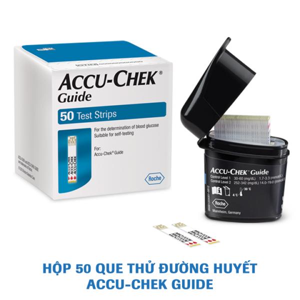 Nơi bán Que thử đường huyết Accu-Chek Guide. Hộp 50 que