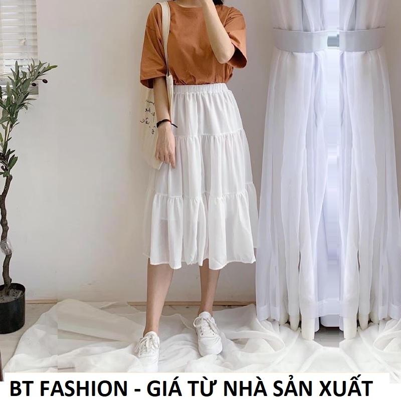 Chân Váy Dài Xòe Voan Duyên Dáng Thời Trang HOT - BT Fashion (Có vải Lót bên trong) + Video, Hình Thật (VA01)