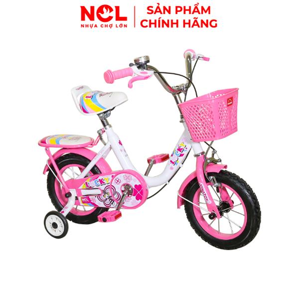 Giá bán Xe Đạp Trẻ Em Nhựa Chợ Lớn 12 inch K1 Lucky Dành Cho Bé Từ 3 đến 4 Tuổi - M1825-X2B