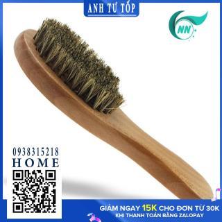 Bàn chải tóc bằng lông heo rừng , cán gỗ 17cm x 6cm x 5cm , phụ kiện cho tóc thumbnail