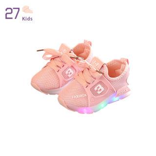 27 Giày Đèn LED Cho Trẻ Em Unisex Giày Thể Thao Thoáng Khí Chống Trượt Thường Ngày Cho Bé