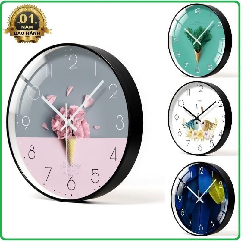(2020 NEW) Đồng hồ treo tường 30CM - kim trôi - loại đẹp bán chạy