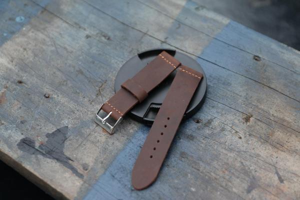Dây da đồng hồ handmade tặng kèm khóa bán chạy