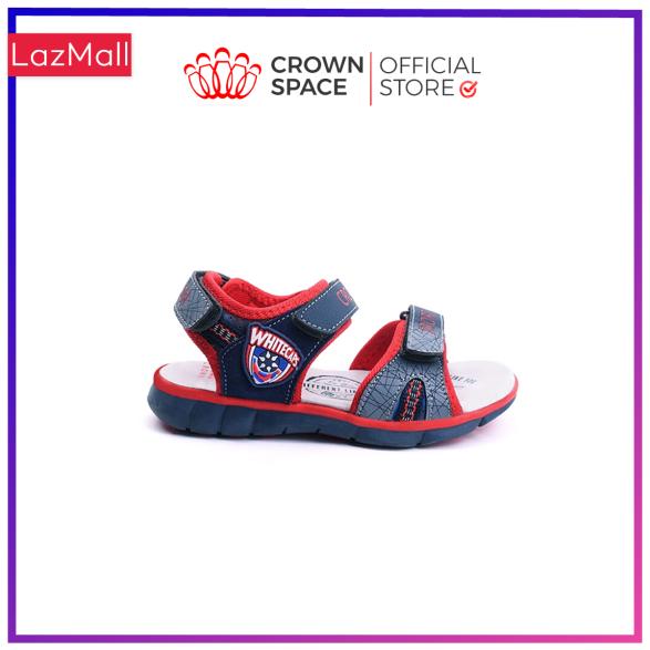 Dép sandal nam Crown Space dép quai hậu Crown UK sandal cho bé từ 2 đến 14 tuổi sandal size 26 đến 35 Da cao cấp, Đế trong lót da thật, Cao su tự nhiên nhẹ êm thoáng mát an toàn CRUK527 giá rẻ