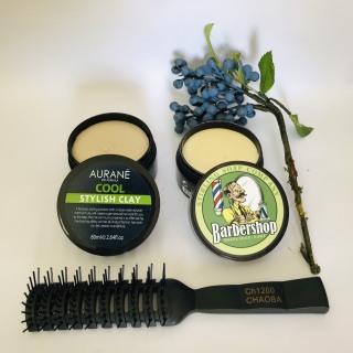 Combo 2 Sáp tạo kiểu mờ Aurane Cool Stylish Clay + Sáp Vuốt Tóc BarberShop Shave Soap thumbnail