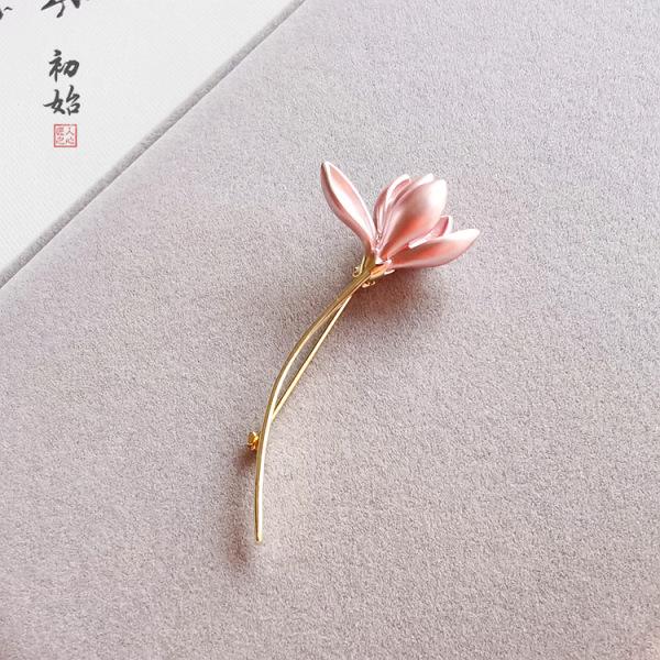 Trâm ghim cài áo nữ cành hoa cổ điển quý phái caka02
