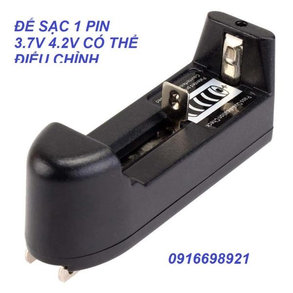 Bộ sạc một pin 3.7v 4.2v pin quạt , đèn đội đầu đèn pin cầm tay ...