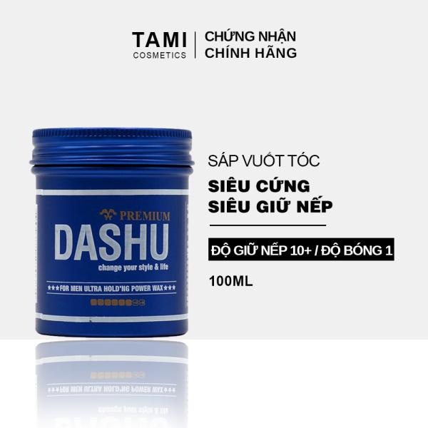 Sáp vuốt tóc nam DASHU For Men Premium Ultra Holding Power Siêu cứng Siêu giữ nếp 100ml TM-SAP01