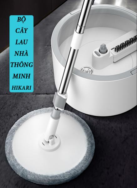 Bộ cây lau nhà thông minh HIKARI Nhật Bản HR-365F (Trắng)