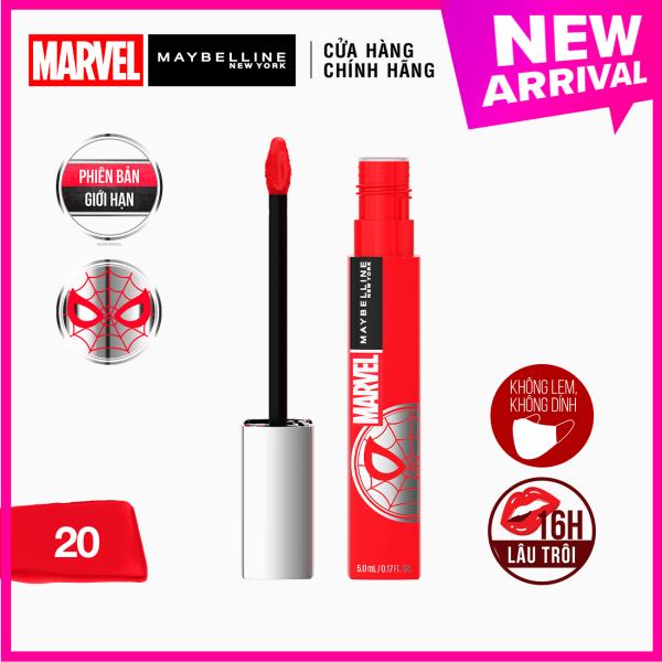 [Phiên Bản Giới Hạn MARVEL] Son Kem Lì 16h Lâu Trôi Maybelline New York Super Stay Matte Ink Lipstick 5ml giá rẻ