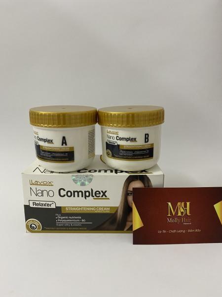 Thuốc duỗi tóc phục hồi Lavox Nano Complex thế hệ mới 150mlx2 tốt nhất