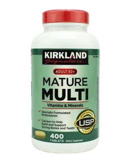 Viên uống Vitamin tổng hợp Kirkland Mature Multi Adult 50+ Hộp 400 viên của Mỹ - dành cho nam, nữ trên 50 tuổi, Tăng cường miễn dịch, phòng bệnh tật, đặc biệt là các bệnh lây nhiễm, bệnh do virus, thumbnail