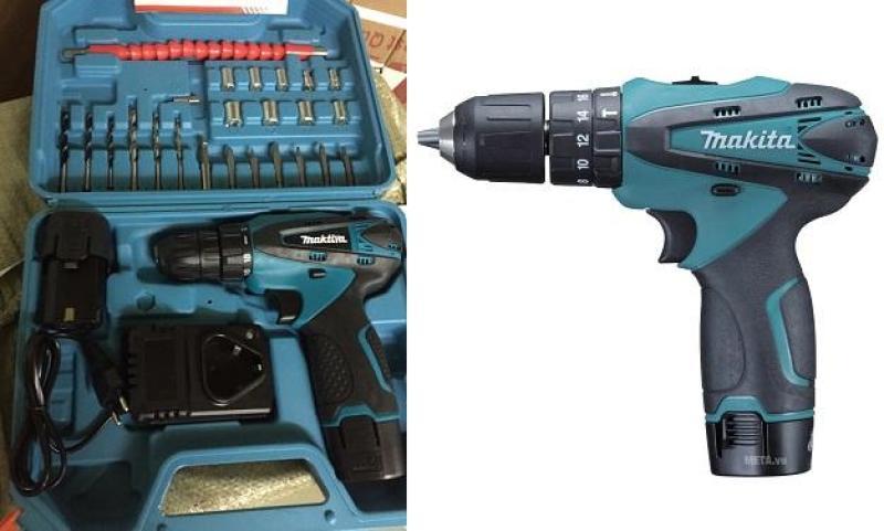 Bộ máy khoan Makita 2 pin sạc kèm nhiều đầu vặn.Sản phẩm tiện dụng-Bảo hành 6 tháng-KT MART