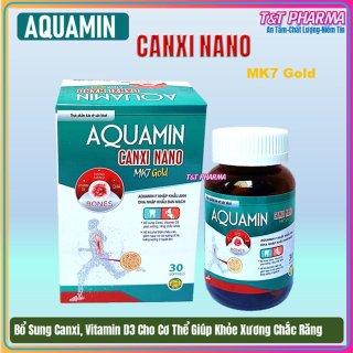 Viên uống bổ sung Canxi ,vitamin D3 Aquamin Canxi Nano MK7 Gold Giúp phát triển chiều cao ở trẻ, giảm loãng xương ở người lớn- thành phần Aquamin 400mg Nhập khẩu Anh, DHA nhập khẩu Đan Mạch.Hộp 30 viên thumbnail