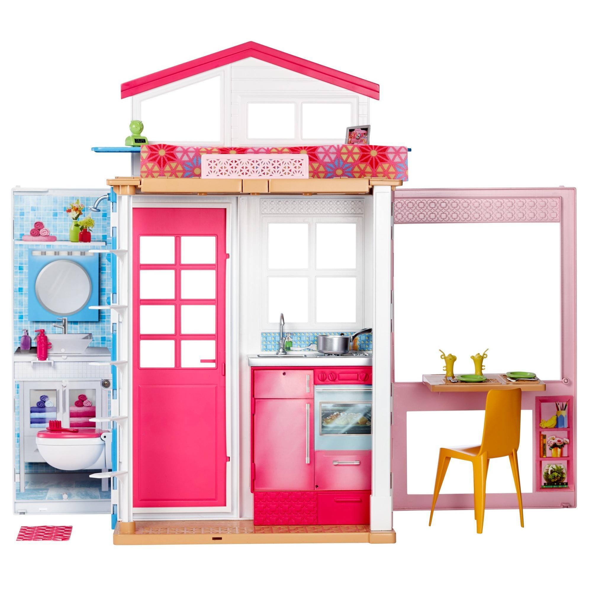 Offer Ưu Đãi BARBIE DVV47 NGÔI NHÀ NHỎ   Barbie® 2-Story House DVV47