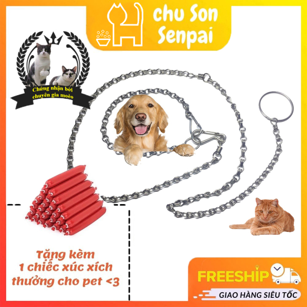 Dây Xích Cho Chó Mèo Inox Cao Cấp, Sáng Bóng, 4 Kích Cỡ- Chú Sơn Senpai