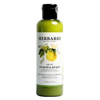 Dầu xả Vỏ bưởi và Bồ kết HERBARIO 270ml Giảm rụng tóc, cung cấp dưỡng chất nuôi dưỡng từ gốc đến ngọn. ngăn ngừa rụng tóc, nuôi dưỡng tóc từ gốc đến ngọn, phục hồi hư tổn và giúp tóc chắc khỏe tự nhiên thumbnail