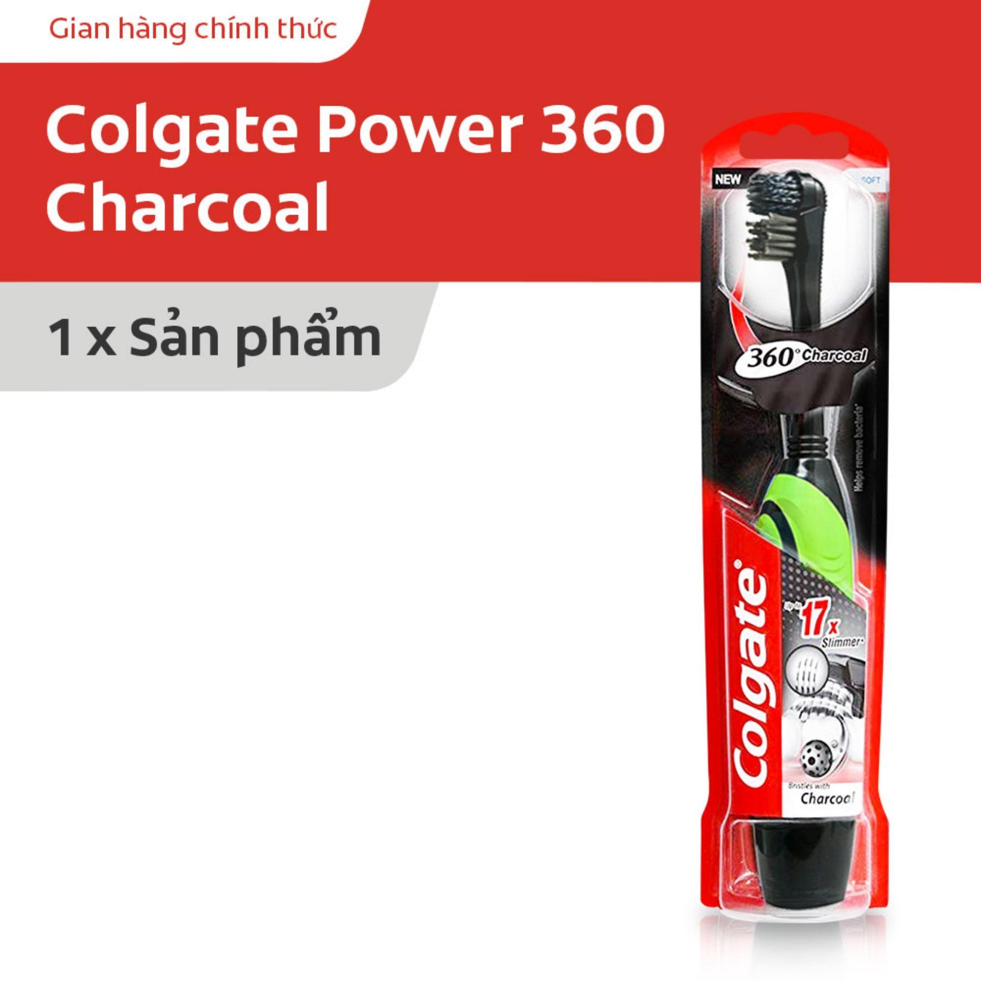 Bàn chải dùng pin Colgate 360 độ Charcoal than hoạt tính