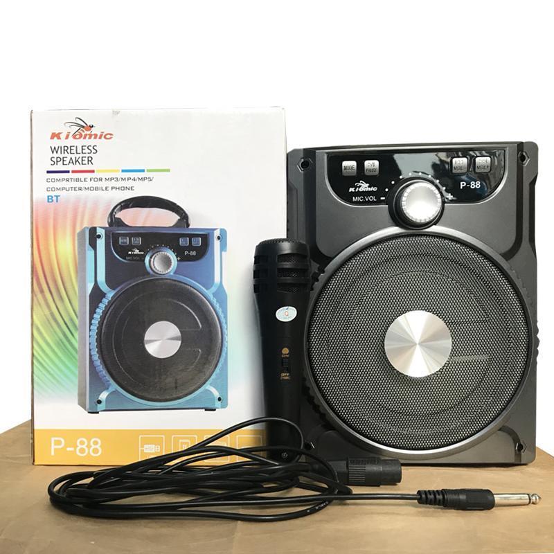 Loa bluetooth, karaoke P-88 (kèm mic) Kiomic