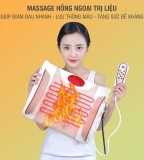 Đệm massage lưng rung nóng nhiệt hồng ngoại YIJIA YJ-M4 8