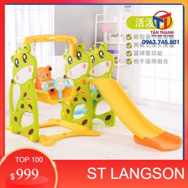 (SLS) [ RẺ VÔ ĐỊCH ] Cầu trượt xích đu cho bé siêu hot