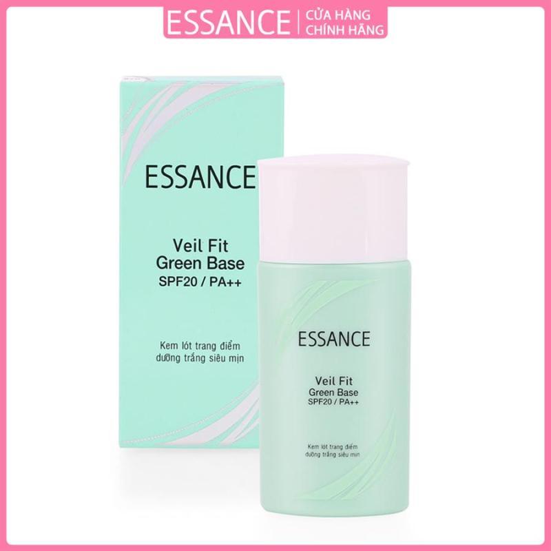 Kem lót trang điểm dưỡng trắng siêu mịn Essance Veil Fit Green Base SPF20 Pa++ 30g