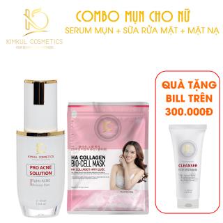 Combo ngăn ngừa mụn cho Nữ KimKul (Pro Acne Solution + Mặt Nạ Bio-Cell Mask) - Bộ combo hỗ trợ ngừa mụn nhanh thumbnail