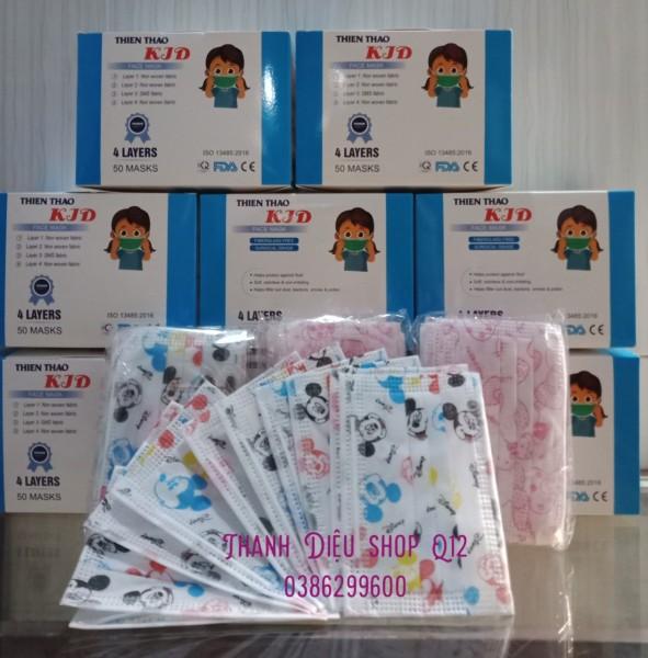Giá bán Mask trẻ em kháng khuẩn hộp 50c, Anticovid cho bé yêu đến trường