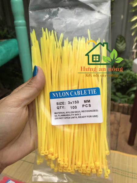 [HCM]Dây rút nhựa màu vàng 2.5x150mm