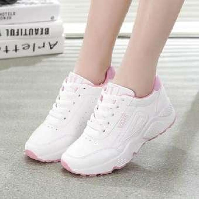 Giày sneaker nữ đẹp, giày thể thao nữ thời trang chữ VAHs phong cách nữ tính, mềm mại, êm chân, chống mùi cảm giác thoải mái. giá rẻ