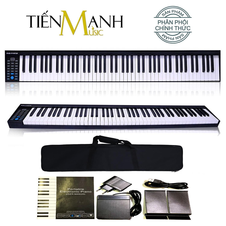 Đàn Piano Điện Konix 88 Phím nặng Cảm ứng lực PH88 - Hãng phân phối chính thức - Midi Keyboard Controllers - (Tăng giảm tone Transpose, Kết nối Bluetooth, Pin sạc 1100mAh - Phần mềm và Hướng dẫn Tiếng Việt -Tặng bao đựng)