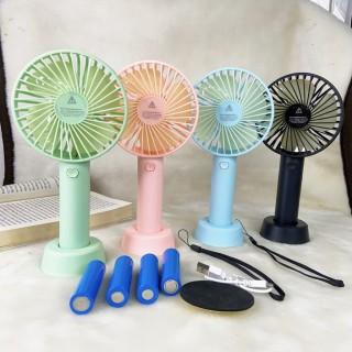 Quạt Mini Fan Có Pin Sạc Cầm Tay Tuỳ Chỉnh 3 Cấp Độ Siêu Mát Hàn Quốc(Nhiều Màu có đế tặng kèm thumbnail