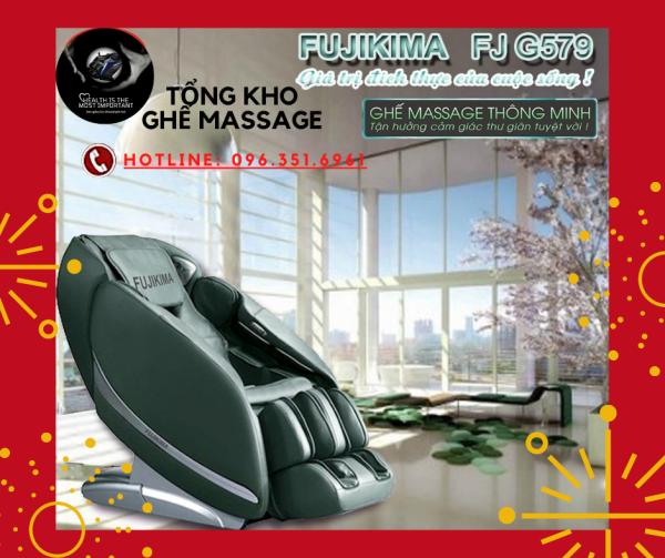 [Version 2021] Ghế FUJIKIMA SPACE GALAXY FJ-G579 liên động tự động massage toàn thân trị liệu theo phương pháp công nghệ Nhật Bản chuyên sâu.