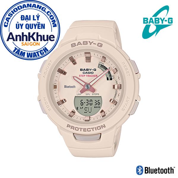 Đồng hồ nữ dây nhựa Casio Baby-G chính hãng Anh Khuê BSA-B100-4A1DR (41mm)