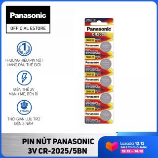 Vỉ 5 viên Pin nút Panasonic 3V CR-2025 5BN - Pin PCMOS Panasonic CR2025 thumbnail